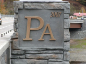 Shohola Pennsylvania Cast Bronze PA-NY DOT Joint Bridge Project By Binghamton Johnson City Monument Company and Fahs Construction of Binghamton NY